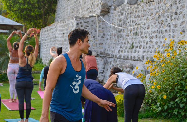 Yoga Retreat in India - Teaching Hatha Yoga