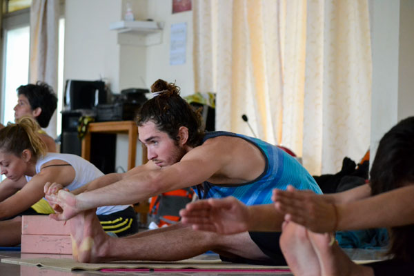 200 hour Teacher Training in India Practice time 1