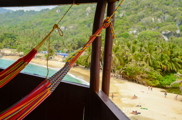 An amazing view in the tayrona park Yoga Retreat in Colombia