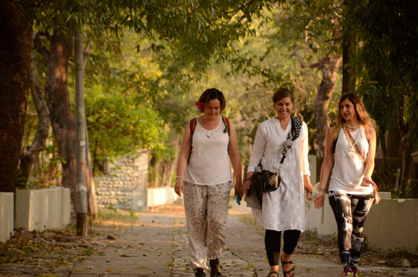 Enjoying a walk Yoga Retreat in Rishikesh India