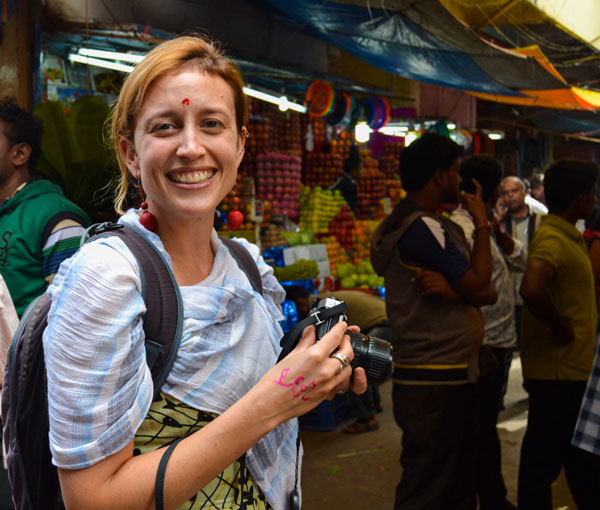 Yoga retreat in India visiting mysore market
