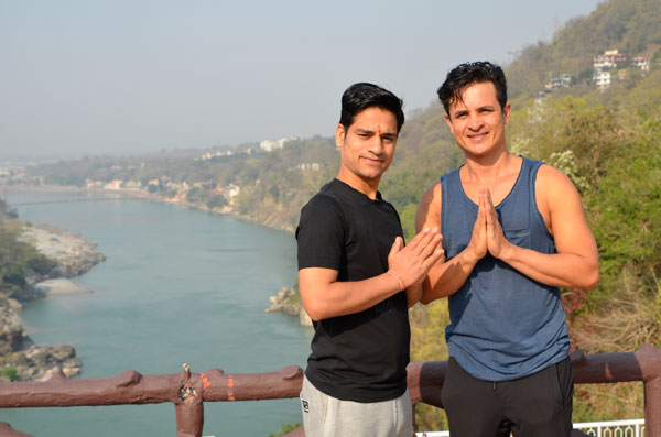 Yoga retreat in India with my teacher Ravi ji